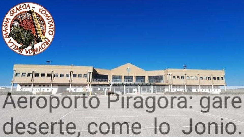 AEROPORTO PITAGORA SANT'ANNA, SI CERCA IN OGNI MODO UNA SCUSA PER SOSTENERNE LO SCARSO UTILIZZO