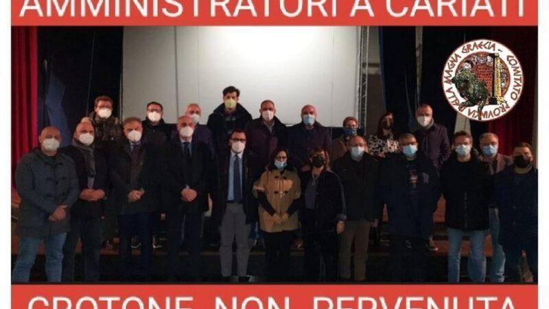 SS.106 SIBARI-CROTONE, SINTESI DEI SINDACI. GRAVE L'ASSENZA ISTITUZIONALE PITAGORICA
