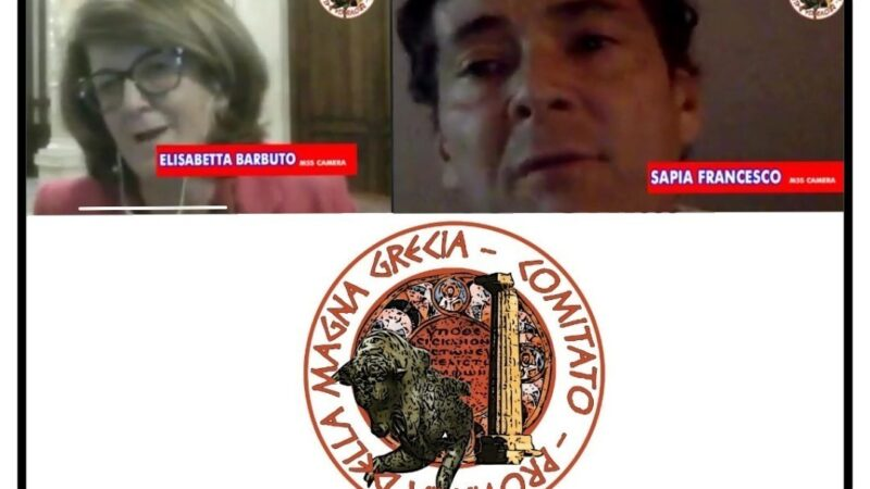 MAGNA GRAECIA, DIRETTE SOCIAL. ADERISCONO I DEPUTATI BARBUTO E SAPIA
