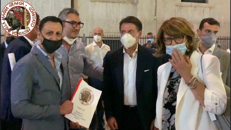 CONSEGNATE COPIE DEI REPORT AL GIÀ PREMIER, GIUSEPPE CONTE, ALL'EURODEPUTATA, LAURA FERRARA ED ALLA CANDIDATA A PRESIDENTE, AMALIA BRUNI.