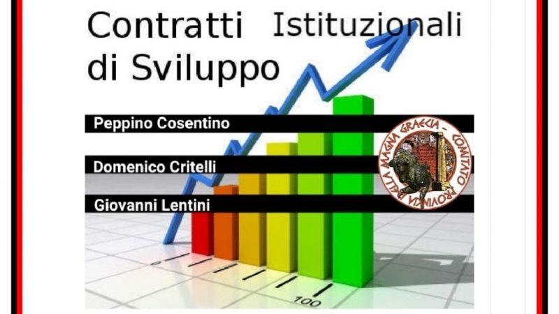 Il Contratto Istituzionale di Sviluppo della Calabria e della fascia jonica.